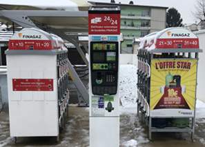Distributeur gaz